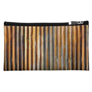 Corrugated Rust Makeup Bag