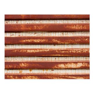 Corrugated Rusted Metal Postcard