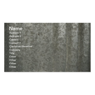 corrugated sheet metal Double-Sided standard business cards (Pack of 100)