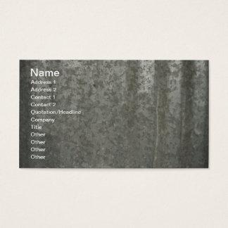 corrugated sheet metal business card
