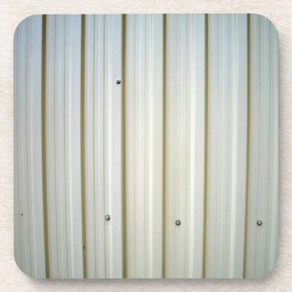 corrugated steel texture drink coaster