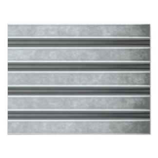 Corrugated Steel Textured 4.25x5.5 Paper Invitation Card