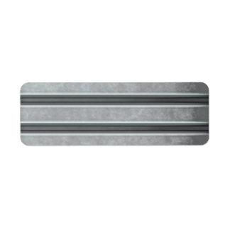 Corrugated Steel Textured Return Address Label