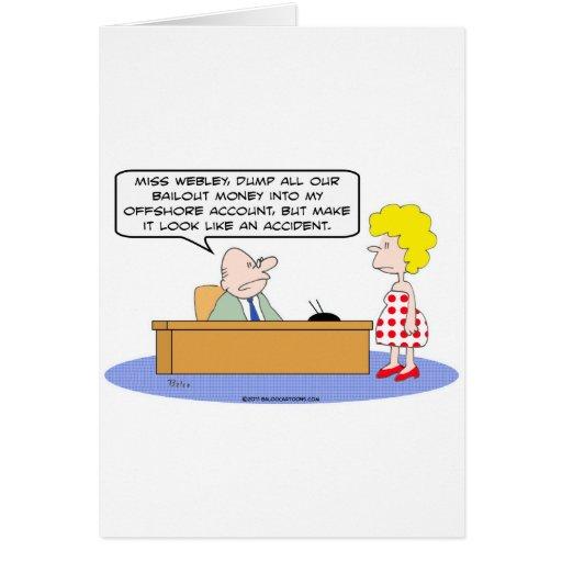 corrupción costera del accidente de la cuenta del  tarjeta de felicitación