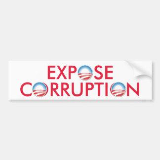 Corrupción de Obama de la exposición Pegatina Para Auto