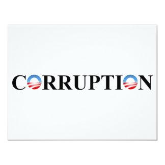 """CORRUPCIÓN INVITACIÓN 4.25"""" X 5.5"""""""