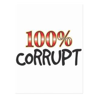 Corrupt 100 Percent Postcards