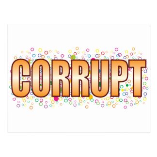 Corrupt Bubble Tag Postcard