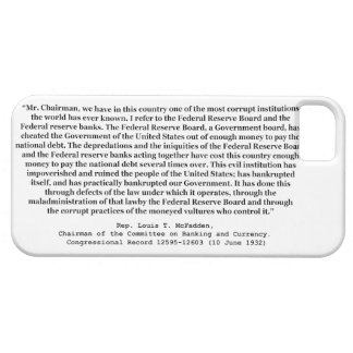 Corrupt Federal Reserve Quote by Louis T McFadden iPhone SE/5/5s Case