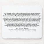 Corrupt Federal Reserve Quote by Louis T McFadden Mousepads