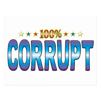 Corrupt Star Tag v2 Post Card