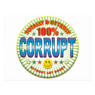 Corrupt Totally Post Card