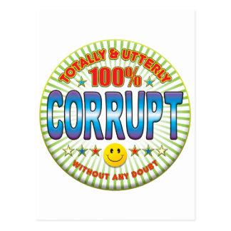 Corrupt Totally Postcard