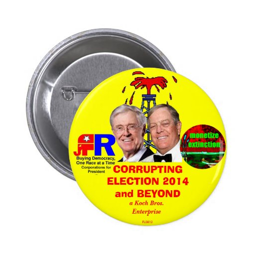 CORRUPTING ELECTION 2014 and BEYOND Pins
