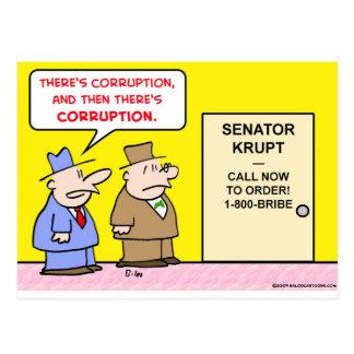 corruption bribe postcard