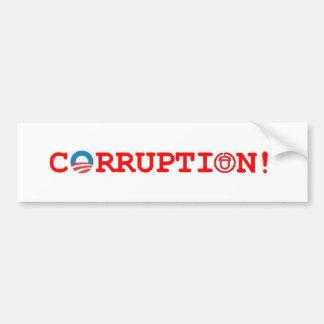CORRUPTION! BUMPER STICKER
