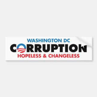 CORRUPTION CAR BUMPER STICKER