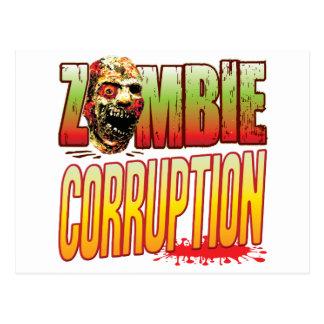 Corruption Zombie Head Postcard