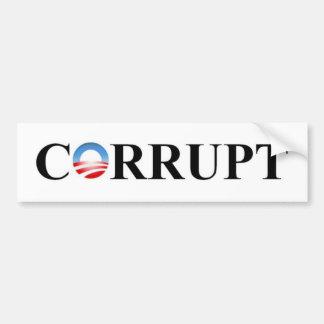 CORRUPTO PEGATINA DE PARACHOQUE