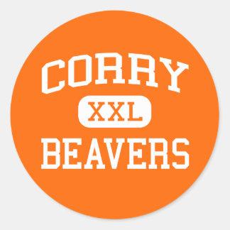 Corry - Beavers - Area - Corry Pennsylvania Classic Round Sticker
