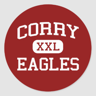 Corry - Eagles - Middle School - Memphis Tennessee Classic Round Sticker