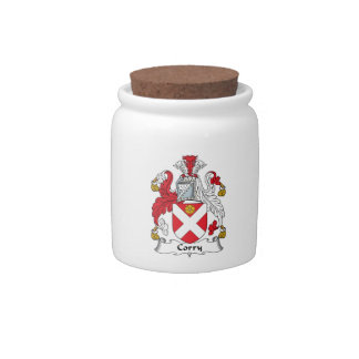 Corry Family Crest Candy Jar