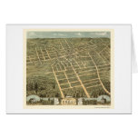 Corry, PA Panoramic Map - 1870 Greeting Cards