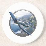 "Corsair Drink Coaster<br><div class=""desc"">F4U World war 2 US NAVY propeller fighter</div>"