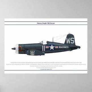 Corsair USA VMF-323 Poster