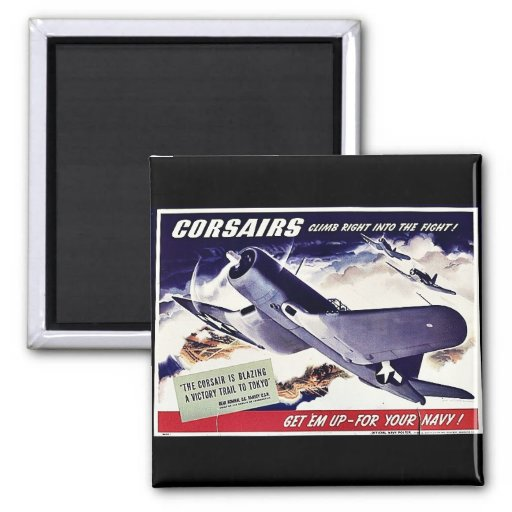 Corsairs 2 Inch Square Magnet