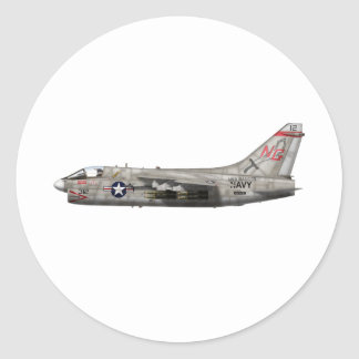 Corsario A-7 II Pegatina Redonda