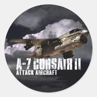 Corsario A-7 II Etiquetas Redondas