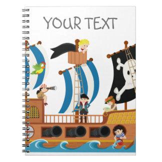 Corsario del barco pirata cuaderno