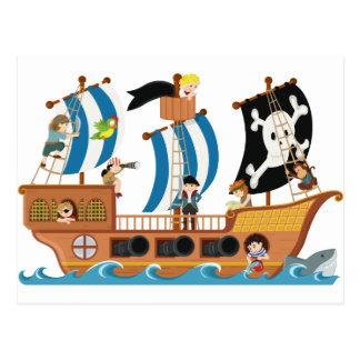 Corsario del barco pirata postal