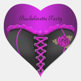 Corsé de la púrpura del fiesta de Bachelorette del Pegatina En Forma De Corazón