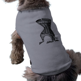 Corsé francés playera sin mangas para perro