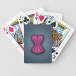 Corsé rosado bonito baraja de cartas