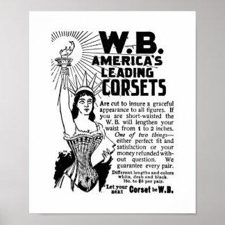 Corsés del poster señoras mundo enero de 1896
