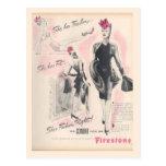 Corsés del vintage, pedernal tarjetas postales