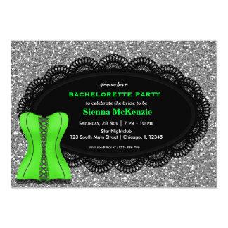 """Corset Bachelorette Party 5"""" X 7"""" Invitation Card"""