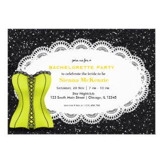 Corset Bachelorette Party Personalized Invites