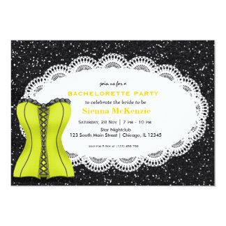 Corset Bachelorette Party 5x7 Paper Invitation Card