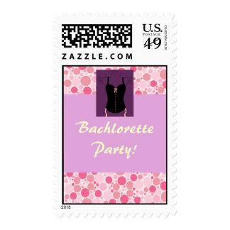 Corset Bachelorette Wedding Invite, Bachlorette... Stamp