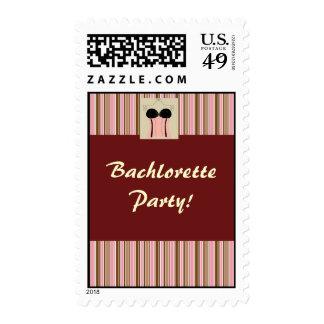 Corset Bachelorette Wedding Invite, Bachlorette... Postage Stamps