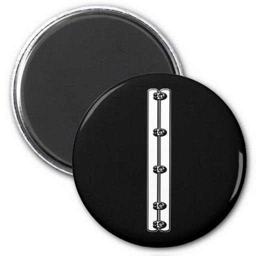 Corset Busk Graphic 2 Inch Round Magnet