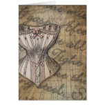 Corset Collage Cards