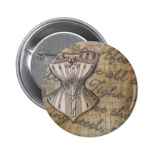 Corset Collage Pins