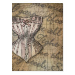 Corset Collage Post Card