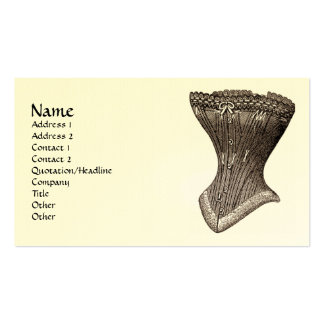 corset Fig 119 (version 2) Double-Sided Standard Business Cards (Pack Of 100)