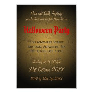 Corset Halloween Costume Large Invitation